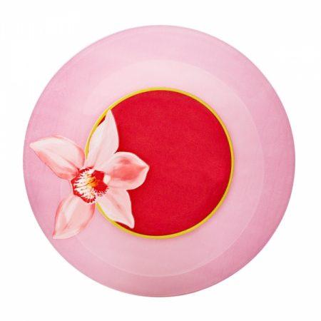 фото: Тарелка десертная КРАСНАЯ ОРХИДЕЯ 19.5см [J1356]