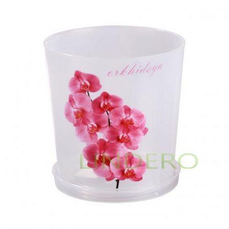фото: Горшок цв. для орхидеи 1,8 л с поддоном (прозрачный) [М1604]