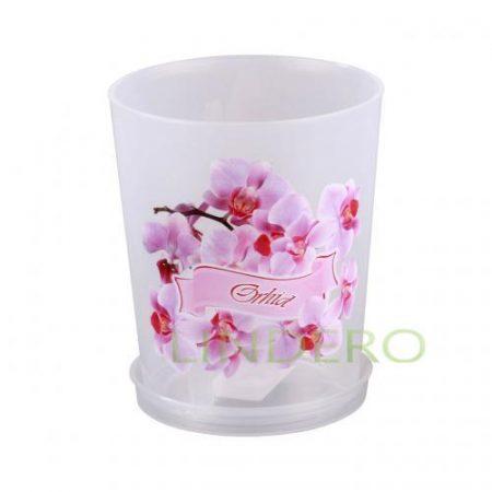 фото: Горшок цв. для орхидеи 0,7л с поддоном (уп.20) [М3125]