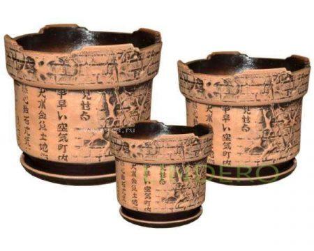 фото: Комплект горшков керам. Готика Китай кор 3шт []