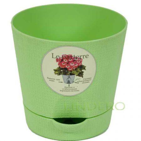 фото: Горшок д/цветов с поддоном LE PARTERRE 1,4л, d-15см (зеленый) [203-1]