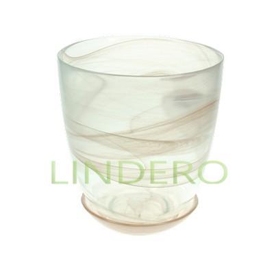 фото: Горшок стекл. с п/д №3 алеб.коричневый д=14,5 [ННС 93-026 кор]
