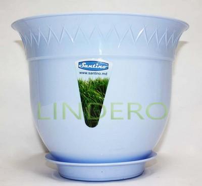 фото: Вазон (горшок) Лилия 2,5 л., голубой [B2 AZU]