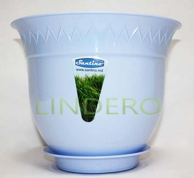фото: Подставка для вазона (горшка) Лилия 2,5 л., голубой [B2-1 AZU]