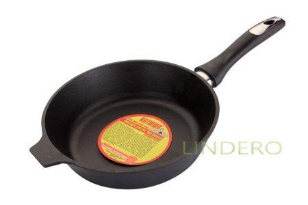 фото: Сковорода чугунная с бакелитовой ручкой 220*40 (низкие борта) [722н]