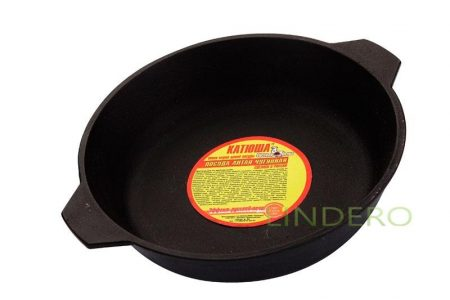 фото: Сковорода чугунная с двумя ушками 260*60 [7226н]