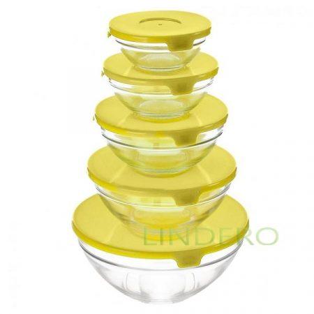 фото: Набор салатников желтая крышка (GB1401) [KL18055]