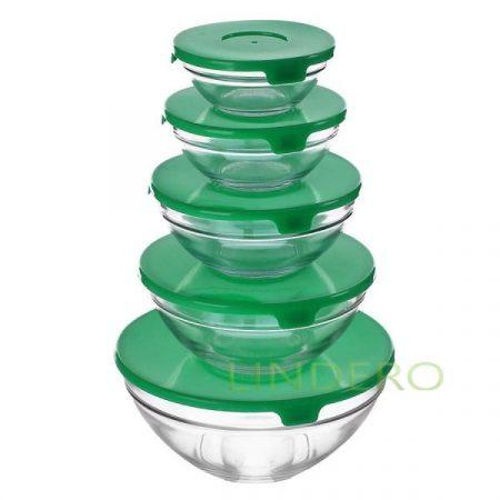 фото: Набор салатников зеленая крышка (GB1401) [kl18062]