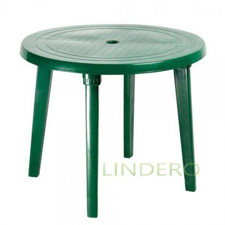 фото: Стол круглый зеленый [kr06]