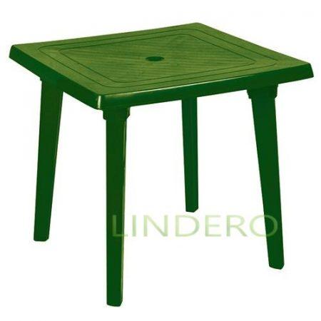 фото: Стол квадратный 800х800х710мм зеленый [kr16]
