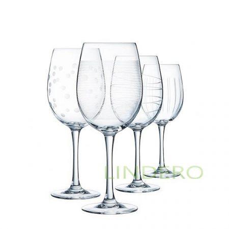 фото: Набор фужеров (бокалов) для вина ИЛЛЮМИНЕЙШН ТЮЛИП 470мл 4шт [L7563]