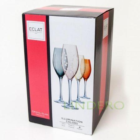 фото: Набор фужеров (бокалов) для шампанского ИЛЛЮМИНЕЙШН КОЛОРС 240мл 4шт [L7602]