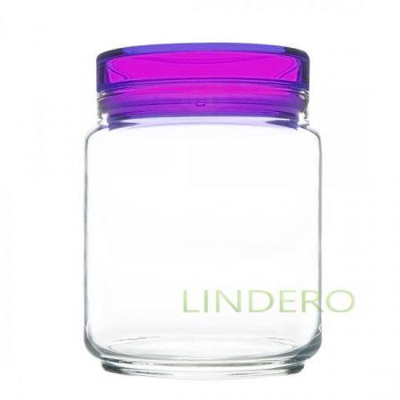 фото: Банка для продуктов КОЛОРЛИШЭС с фиолетовой крышкой 0.75л [L8344]