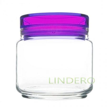 фото: Банка для продуктов КОЛОРЛИШЭС с фиолетовой крышкой 0.5л [L8346]