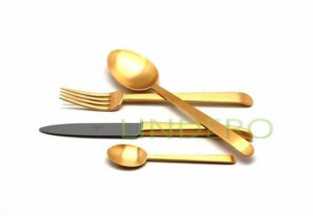 фото: Набор столовых приборов ERGO GOLD мат. 24 пр. [9122]
