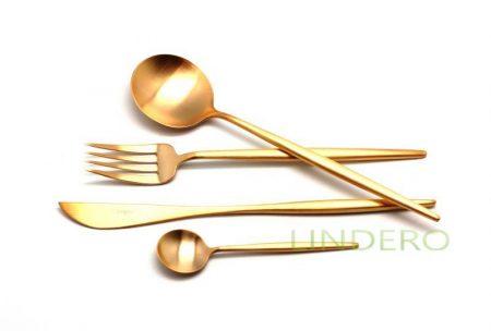 фото: Набор столовых приборов MOON GOLD мат 24 пр. [9232]