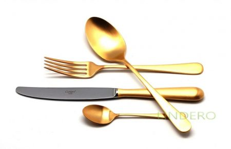 фото: Набор столовых приборов ALCANTARA GOLD мат. 24 пр. [9292]