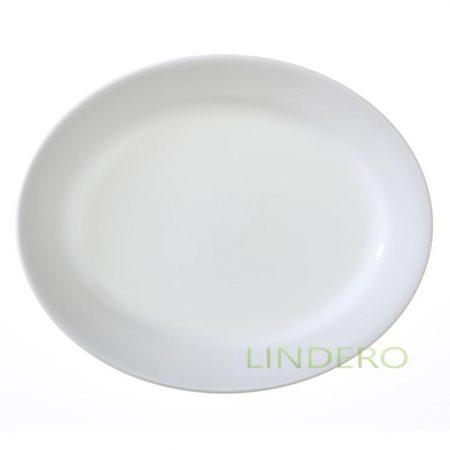 фото: Тарелка овальная 24см Winter Frost White [1057558]