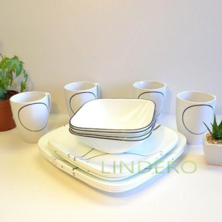 фото: Набор посуды Simple Lines 18 пр [1088646]