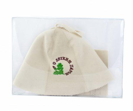 фото: Набор для бани из двух предметов шапка+рукавица  С ЛЕГКИМ ПАРОМ [LG41099]