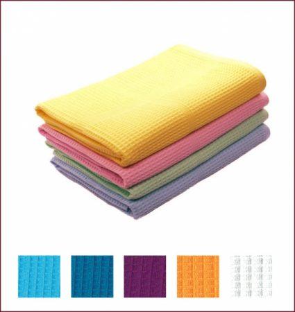 фото: Накидка вафельная 145х78см для женщин цветная однотонная [LGB32058]