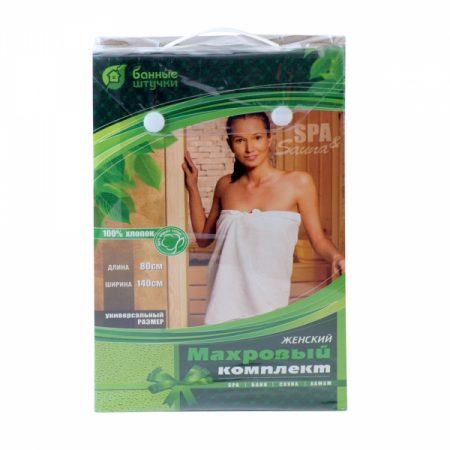фото: Махровый комплект для женщин (парео140х80см + рукавица) [LGB32250]