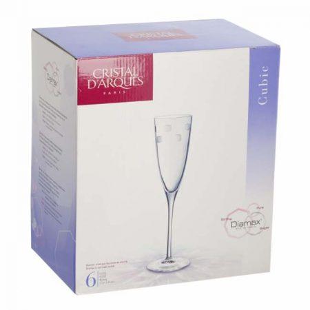 фото: Набор фужеров для шампанского КУБИК 6шт 170мл [H4307]