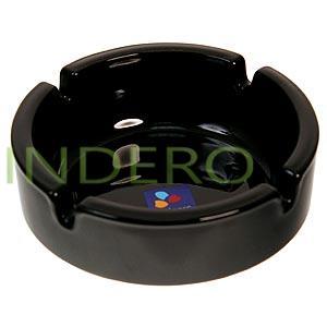 фото: Пепельница круглая черная, 10,7 см. [12643]