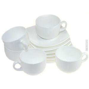 фото: Сервиз чайный Quadrato White, 220 мл. [E8865]