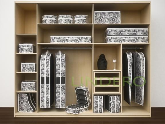 фото: Подвесной кофр (органайзер) открытый для обуви и бытовых мелочей 120х22х30см. (Метелица) [820/0]