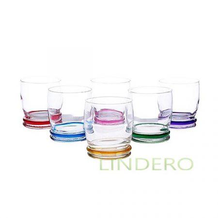 фото: Набор стаканов АКРОБАТ РЭЙНБОУ низкий 270мл 6шт [N1602]