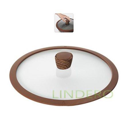 фото: Стеклянная крышка с силиконовым ободом, 28 см, NADOBA, серия GRETA [nad751311]