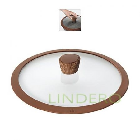 фото: Стеклянная крышка с силиконовым ободом, 26 см, NADOBA, серия GRETA [nad751312]