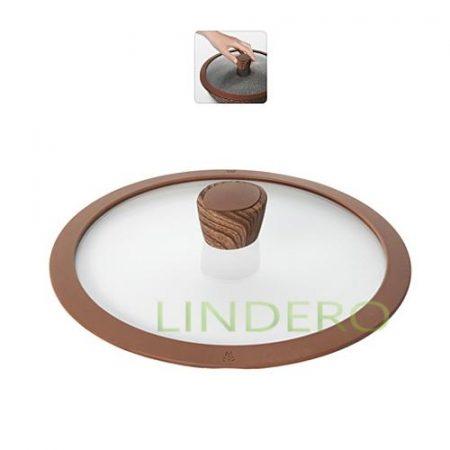 фото: Стеклянная крышка с силиконовым ободом, 24 см, NADOBA, серия GRETA [nad751313]