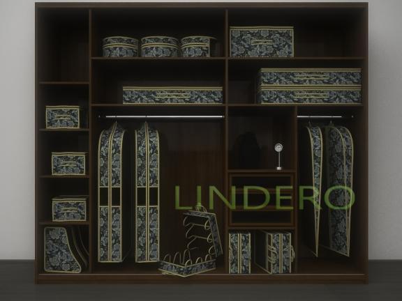 фото: Кофр для колготок и мелочей, двусторонний, 16 карманов, 20х80см (Прованс) [1310]