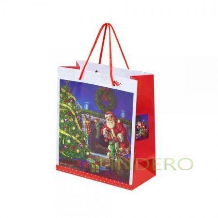 фото: Пакет подарочный (ламинированный, текстильные ручки) 188,521см. (4вида) [psn9901212]