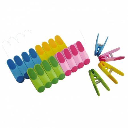 фото: Прищепки пластиковые 20шт разноцветные с латексным покрытием [R102402]