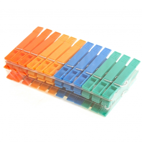 фото: Прищепки пластиковые 24шт разноцветные [R102424]