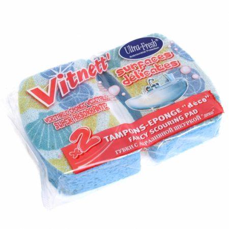 фото: Губки натуральные с декоративной шкуркой для ванной 2шт [R141005]