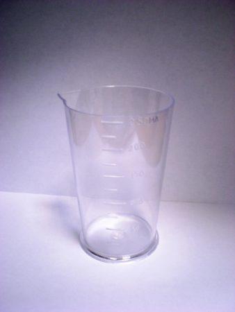 фото: Стакан мерный 0.25л прозрачный [SM0203]