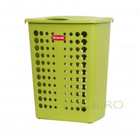 фото: Корзина для белья ВИКТОР 40л зеленый [u00047-560]