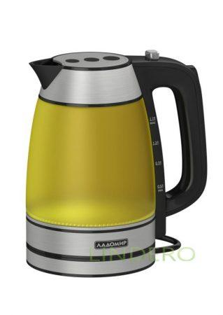 фото: Чайник Ладомир 128-3 желтый 1,7л 2,0кВт