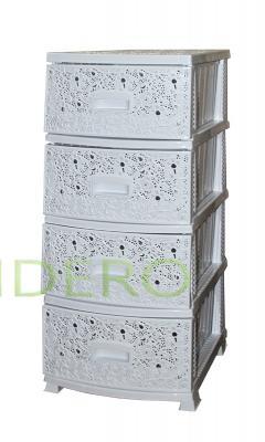 фото: Комод РП-421 4секции ДЕКОР Ажур бел.