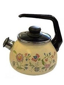 фото: Чайник 3,0л сфер,свист.4с209я Луг.цветы,сл.кость