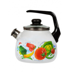 фото: Чайник 3,0л сфер,свист.4с209я Овощной фреш бел.