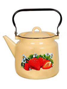 фото: Чайник 3,5л 1с26с Клубника садовая,крем.