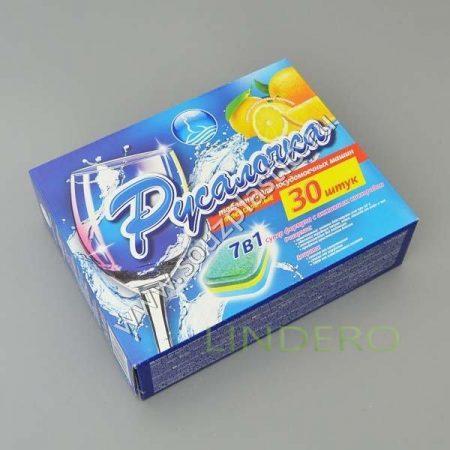 фото: Таблетки для посудомоечных машин Тайфун 7в1, 30 шт.РУСАЛОЧКА [432659]