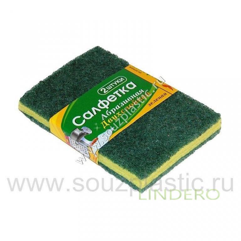 фото: Салфетка абразивная зеленая 2-х слойная зеленая-2 [АС-05]
