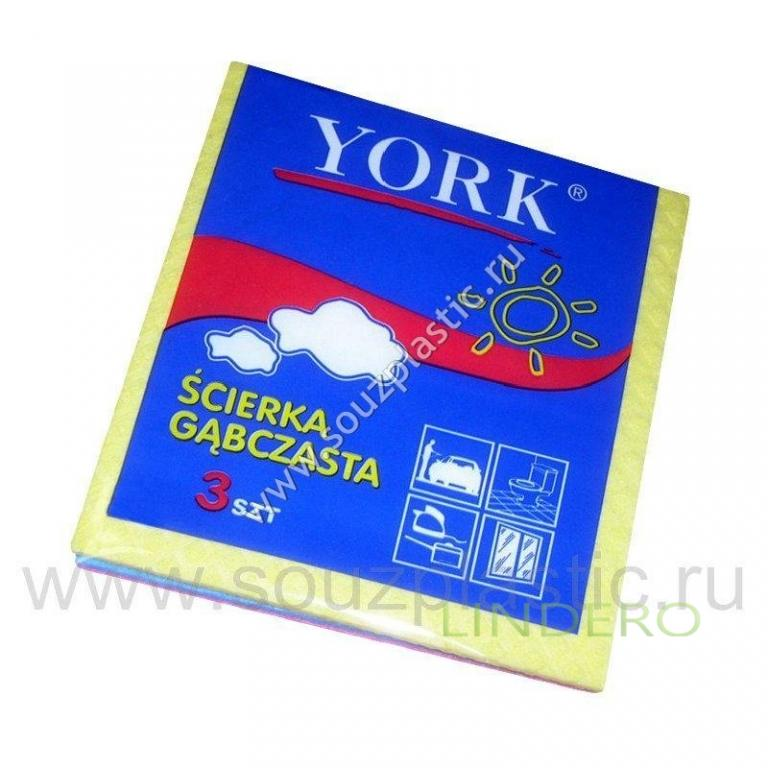 фото: Салфетка губчатая 'York' 3шт [024010]