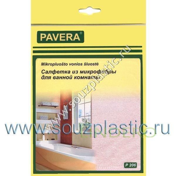 фото: Салфетка из микрофибры 'Для ванной комнаты' 30*40см 320гр. PAVERA [P206]